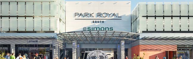 Front entrance to Park Royal Shopping Centre